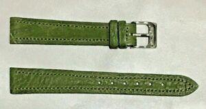 Pulsera Correa de Reloj Piel Legítima Cuero 14 mm Verde | Piel de Toro 241