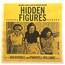 HIDDEN FIGURES Movie FARRELL WILLIAMS Signed Card + 45 Vinyl 2 Song Record Promo