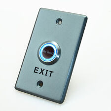 No Touch Request to Exit door switch sensor light Blue Green Aluminum 12V NO NC