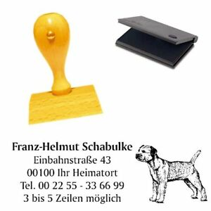 Adressenstempel « BORDER TERRIER » mit Kissen - Hundeschule Haustier