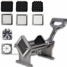 Commercial Potato French Fry Fries Fruit Vegetable Cutter Slicer Press 4 Blades