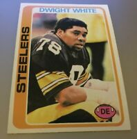 DWIGHT WHITE 1978 Topps Football Card #255 Pittsburgh Steelers