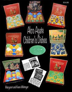 Akro Agate Children's Dishes-Margaret & Kenn Whitmyer-Glass reference work