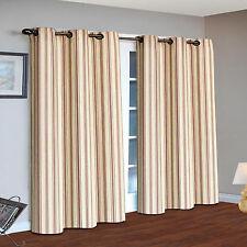 SkylineWears Grommet Top Stripe Curtains Thermal Insulated Blackout Window Door