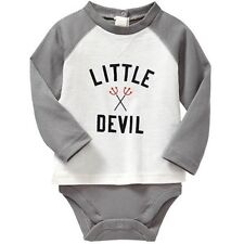AUTH. BNWT GAP BABY BOYS HALLOWEEN GRAPHIC RAGLAN BODY DOUBLE (6-12 mos.)