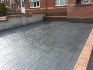 Imprinted concrete colour driveway sealer paint pattern imprint 20 litre