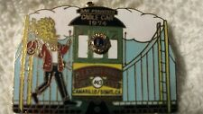 Lions Club Pin cable car 1974 Pleasant Valley Vintage Rare