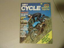 OCTOBER 1972 DIRT CYCLE MAGAZINE,YAMAHA DT-2,KAWASAKI 175 ENDURO,BSA 500 VICTOR