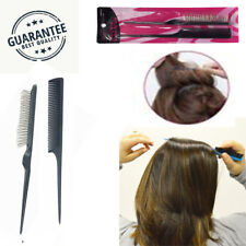 Professional Black Non Scratching Teasing Brush with Bone Tail Comb Set