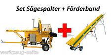 Sägespaltautomat Spaltautomat Holzspalter Spalte wood log splitter conveyor belt