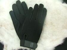 Equestrian horseback horse riding gloves BLACK LARGE