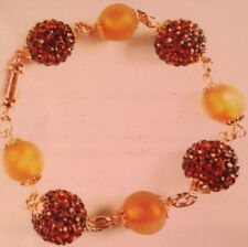 Jilly Beads Golden Glow Bracelet Jewelry Making Kit Shaballa Dark Topaz Nectar