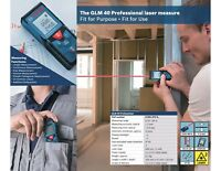 Bosch GLM 40 Laser Measurer Digital Distance Tape/Point,40 meter Range Finder