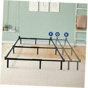 7 Inch Compact Steel Box Spring and Mattress Set Bed Frame, Full/Queen/King, Bl