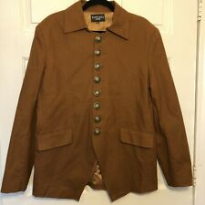 Thelees Men's Blazer - Sz XXL - Brown Steampunk Military Inspired 8 Button Coat