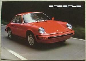 PORSCHE 911S & TURBO CARRERA USA Car Sales Brochure 1977 #33-76-76040