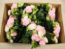 Job Lot Wholesale 6x Wedding Artificial Flowers Rose Ranunculus Ficus Bouquet
