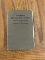 Oxford English and French Conversation Book for Army & Navy Men, 1917