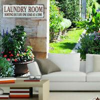 Laundry Room Wooden Sign Novel Decorative Hanging Plaque Vintage Wall Decoration
