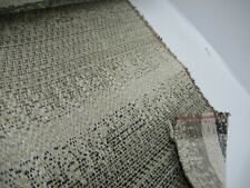 4 metres heavy beige, taupe, charcoal stripe upholstery fabric