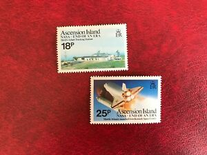 ASCENSION ISLAND 1989 MNH NASA TRACKING OPERATIONS STATION SPACE SHUTTLE LAUNCH