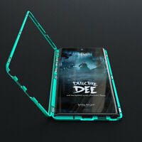Metal Magnetic Tempered Glass Bumper Case For Samsung Galaxy Note 10 Plus S10 S9