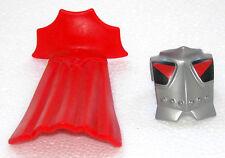 armadura plata + Conector + Cape rojo playmobil para collar romano CABALLERO