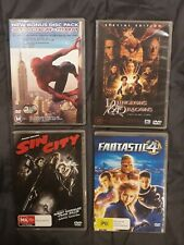 4 action Dvd movies bundle - Spiderman Sin City Fantastic 4 Dungeons & Dragons