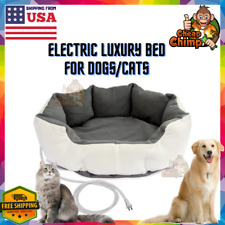 Luxury Electric Heated Dog/Cat Bed Anti Anxiety Calm Winter Small/Medium Pet USA
