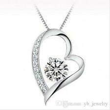 Austrian Fashion Crystal Diamonds Love Heart Pendant Necklace