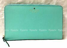 Kate Spade WLRU1812 Mikas Pond Zip Travel Wallet Bifold Posey FRESH AIR Blue NWT