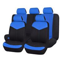 Universal Car Seat Covers set  black blue rear seat split 40/60 50/50 60/40