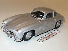 Welly Mercedes Benz 300 Sl Gull Wing Doors 1:24 Metallic Silver Free Ship
