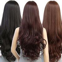 Fashion Women Cosplay Wig Long Curly Wavy Black Heat Resistant Hair Full Wigs