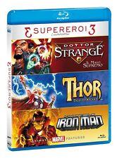 SUPERHERO ANIMATED TRILOGY - Blu Ray Disc - Doctor Strange, Iron Man, Thor.