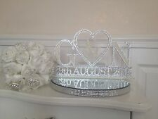 Wedding Top Table Sign, Mr & Mrs, Centrepiece, Diamantes & Pearls