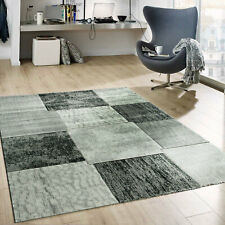 Teppich Grau Patchwork Design Meliert