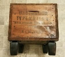Vintage 1930s Underwood Typewriter Wooden Crate Palace Theater Ohio