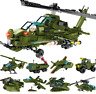 Building Blocks Helicopter Military Kids Figur Toys Model Gifts Mini Kids 8 in 1