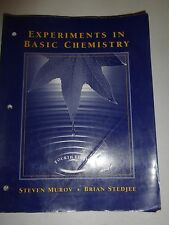Experiments in Basic Chemistry by Steven Murov Paperback Book 4th Edition