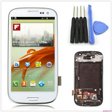 A+ For Samsung Galaxy S3 i9300 LCD Display Touch Screen Glass Digitizer + Frame