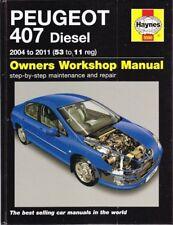 Peugeot 407 Diesel 2004 - 2011 Workshop Manual