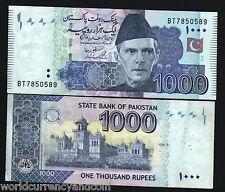 PAKISTAN 1000 1,000 RUPEES P50 2008-2011 JINNAH USED PAPER MONEY BILL BANK NOTE