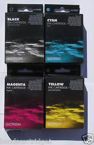 3 Cyan and 1 Magenta Compatible IJ Brand Cartridges LC900 LC41