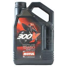 Motul 300V 4T Factory Line 15W-50 Motorcycle Engine Oil Ester Synth 4 Litre 4L