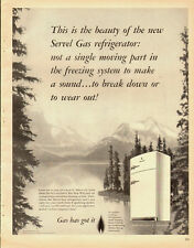 1951 Vintage ad for Servel Gas Refrigerator~Snow Capped Mountains/Lake- 082113