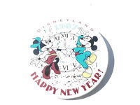 "VINTAGE NOS 3"" PINBACK BUTTON #43- 034 - DISNEY - 1987 DISNEYLAND HAPPY NEW YEAR"