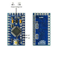 Pro Mini Enhancement 3.3V or 5V adjustable 16MHz MEGA328P (Arduino-compatible)