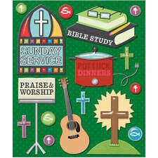 K&COMPANY STICKER MEDLEY CHURCH ACTIVITIES RELIGIOUS 3D SCRAPBOOK STICKERS