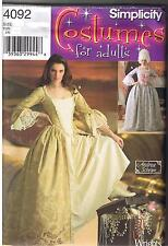 Simplicity Sewing Pattern 4092 HH Misses Costumes